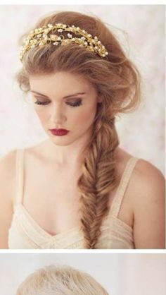 I love this hair do!! Would be perfect for our enchanted forest theme