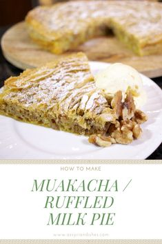 Learn How to Make Muakacha / Ruffled Milk Pie with Assyrian Dishes! Learn To Cook, How To Make, Food Videos, French Toast, Milk, Dishes, Cooking, Breakfast, Desserts