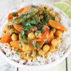20 Minute Chickpea Curry - Creme De La Crumb