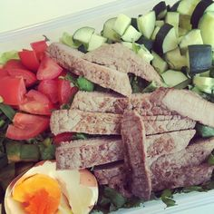 Lunch Breaks paleo style: home-made steak salad #eatclean #paleo by liz__mary
