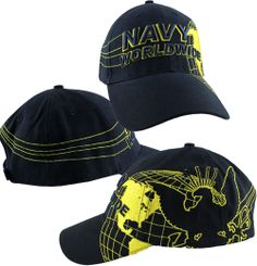 7e8a30d4ab7 Please enjoy this Navy Worldwide ball cap. This cap is made of the highest  quality with direct embroidery and an adjustable velcro strap.