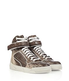 Luxe snake embossed leather dresses up these retro-style high-tops from Givenchy #Stylebop