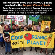 We marched in solidarity with our allies Organic Consumers Association at the People's Climate March! Join us in sharing the truth about climate chaos-- organic and sustainable farmers are the solution to ending climate change around the world! www.fooddemocraynow.org #ClimateMarch #food #climate #soil #sustainability #goorganic