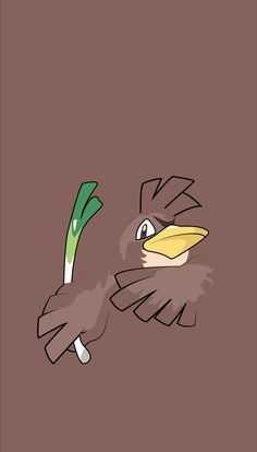 Farfetch'd is always seen with a stalk from a plant of some sort. Apparently, there are good stalks and bad stalks. This Pokémon has been known to fight with others over stalks. Pokemon Go, Pokemon Fusion, Luxray Pokemon, Pokemon Legal, Pikachu, Pokemon Stuff, Animes Wallpapers, Cute Wallpapers, Pokemon Lock Screen