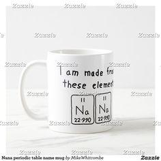 Drew periodic table name mug periodic table nana periodic table name mug urtaz Choice Image
