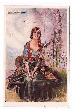 34493 Cartolina Illustrata MAUZAN - Donnine