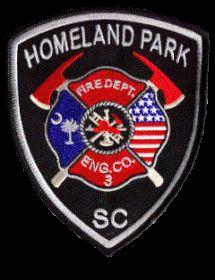 Homeland Park Fire Department, Anderson, SC #fire #setcom #patch #palmettostate…