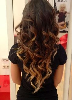 Dark Brown Curly Hairstyle, love getting this before my birthday!