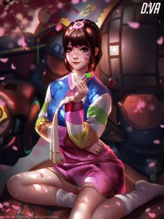 Overwatch - D.VA Year of the Rooster Skin