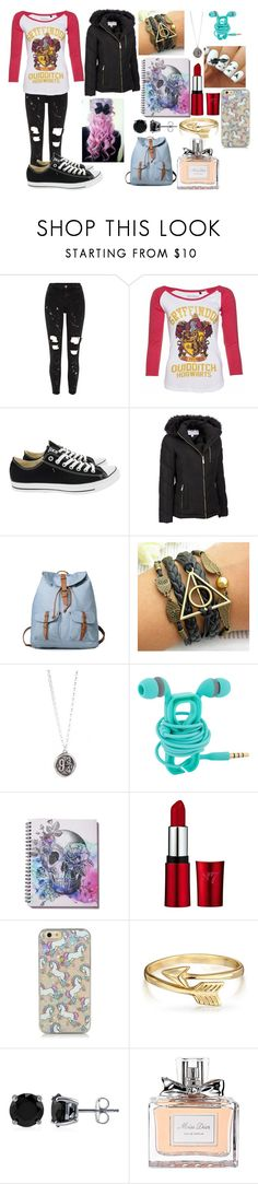 """Untitled #505"" by caitlinmmerriman ❤ liked on Polyvore featuring River Island, Converse, Wilsons Leather, Bling Jewelry, BERRICLE, Christian Dior and plus size clothing"