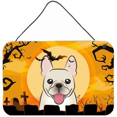 "Caroline's Treasures Halloween French Bulldog by Denny Knight Graphic Art Plaque Size: 8"" H x 12"" W"
