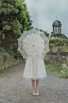 Picturesque Parasol - great for hiding before the first look and for photos - from BHLDN