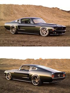 I don't always like modifications, but these are subtle and don't destroy the integrity of the car's lines. 1967 Mustang