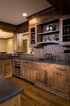 116 Stunning Modern Rustic Farmhouse Kitchen Cabinets Ideas - Page 8 of 117 Rustic Kitchen Island, Rustic Kitchen Design, Interior Design Kitchen, Country Kitchen, New Kitchen, Kitchen Ideas, Western Kitchen, Awesome Kitchen, Order Kitchen
