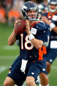 Peyton Manning - practice, after signing with the Denver Broncos