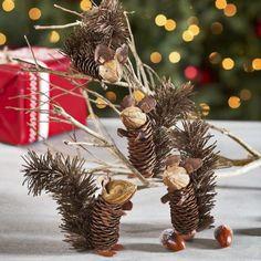 holiday homemade pinecone xmas ornaments 8