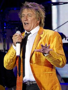 "Rod Stewart ""I danced with him on stage while he was in this Yellow Jacket!!"" 1995"