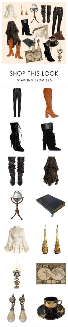 """""""Untitled #4"""" by sophie-briley ❤ liked on Polyvore featuring Balmain, Prada, Steve Madden, Yves Saint Laurent, Erdem, Authentic Models and Bliss Studio"""