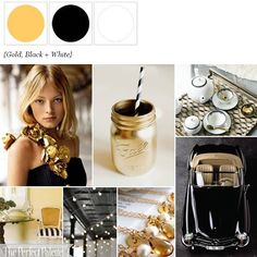 Gold, Black + White