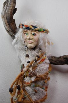 Coyote Song  Spirit Doll  Assemblage Doll by wildlywhimsical, $42.00