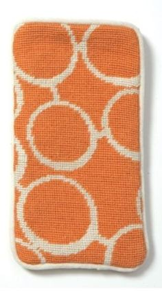 Trina Turk Eyeglass Case, Spectacles, Orange, 3-3/4 by 7-Inches by Peking Handicraft. $23.86. 3.75 by 7-inches. Classic orange. Handcrafted needlepoint. Trina Turk designer eyeglass case. Retro Spectacles design. Best known for her bright and bold Southern California style, Trina Turk's handcrafted pillows, linens, rugs and home accessories incorporate vibrant colors, modernist prints and graphic design to create her signature style. Trina Turk's vintage/moder...