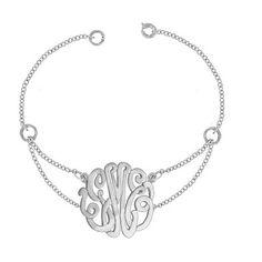 Script Monogram Double Chain Bracelet
