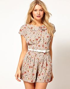 Yumi Printed Dress With Belt