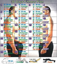 30 Day Fitness Plan....Makes me exhausted just looking at it!