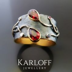 Multi Stone Silver And Gold Ring - product images  of