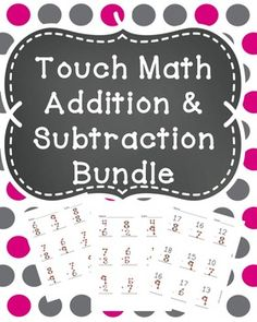 This bundle is made up of my touch math addition practice worksheets and my touch math subtraction worksheets. There are 16 practice worksheets in all and answer keys are provided.See the individual products here:Touch Math AdditionTouch Math Subtraction 1st Grade Math, Kindergarten Math, Teaching Math, Teaching Strategies, Grade 2, Second Grade, Teaching Ideas, Touch Point Math, Touch Math