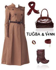 Tuğba & Venn '12-'13 Sonbahar/Kış. Hijab. #hijab #trench #scarf #tugba
