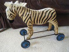 zebra pull toy