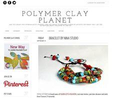 Gracias a todos en Polymer Clay Planet por reseñar mi pulsera el día de hoy, les envío abrazos y saludos cariñosos desde Venezuela. http://polymerclayplanet.blogspot.com/