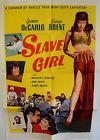 SLAVE GIRL Original R-56 1-SHEET Movie Poster YVONNE De CARLO Broderick Crawford - 1Sheet, Broderick, CARLO, CRAWFORD, GIRL, Movie, ORIGINAL, Poster, Slave, YVONNE