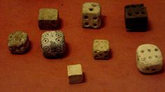 These are some dice that ancient Egyptians use to play with, they look ...