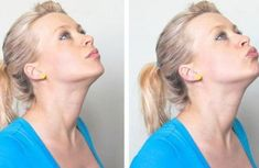 Looking for a way to get rid of neck fat and double chin fast? Your facial muscles need exercise to tone and tighten the skin on your face. Here are 7 Best Exercises to Get Rid Of Double Chin Fat and Neck Fat Fast. Reduce Face Fat, Reduce Double Chin, Double Chin Exercises, Corps Parfait, Muscle Stretches, Easy Stretches, Natural Face Lift, Lose Arm Fat, Face Exercises