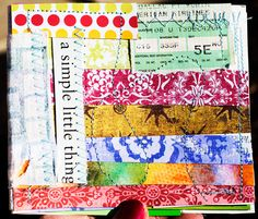 stitched little journal