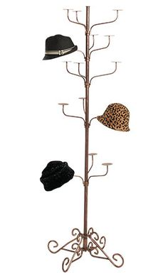 As a hat person, why not have a commercial Boutique Cobblestone 5-Tier Hat Display Rack in my dressing area?