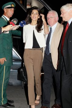 Arriving at the Hotel Grande Bretagne in Athens in 2014. See all of Amal Clooney's best looks.