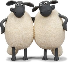White Fur Coat, Play Fighting, Shaun The Sheep, Almost Always, Flocking, Twins, Cookie, Cartoon, Ship