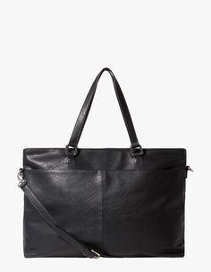 Shopper bag with pockets