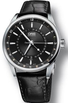 9c8bf86f0c1  oris Watch Artix Pointer Moon Date Leather  bezel-fixed  bracelet-strap