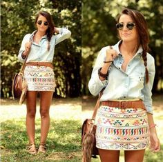 Super cute outfit...love this, although I would be working a slightly longer skirt ;)!!