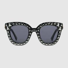 1ad6aa4bc3 Cat eye acetate sunglasses with stars Gucci Eyewear