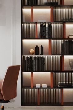 Fabulous Bookcase Decorating Ideas To Perfect Your Interior Design 37 Shelving Design, Bookshelf Design, Bookcase Decorating, Decorating Ideas, Decor Ideas, Japanese Interior Design, Contemporary Interior, Espace Design, Muebles Living