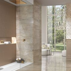 The Marmi Range of Italian Rectified Tiles allows your bathroom to be highly original in a variety of prestigious marbles. Also available in a 59.5cm x 59.5cm format.