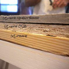 easy diy concrete counters, concrete masonry, concrete countertops, countertops, diy, how to, kitchen design, Counter top cross section