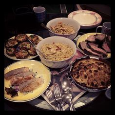 The spread for dinner. - @marcuspang- #webstagram