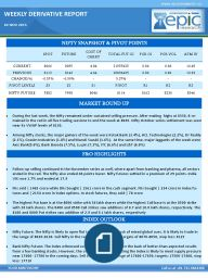 During the last week, the Nifty remained under sustained selling pressure. After making highs at 8330, it re- mained in the red in all five trading sessions to end the week at 8065. Nifty October series settlement was seen near its VWAP levels of 8130.