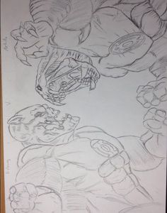 And the very last installment of my goosebumps sketches  5 5 the     Kilowog v Arkillo Sketch  kilowogvsarkillo  superhero  goodvsevil  villian   kilowog  arkillo